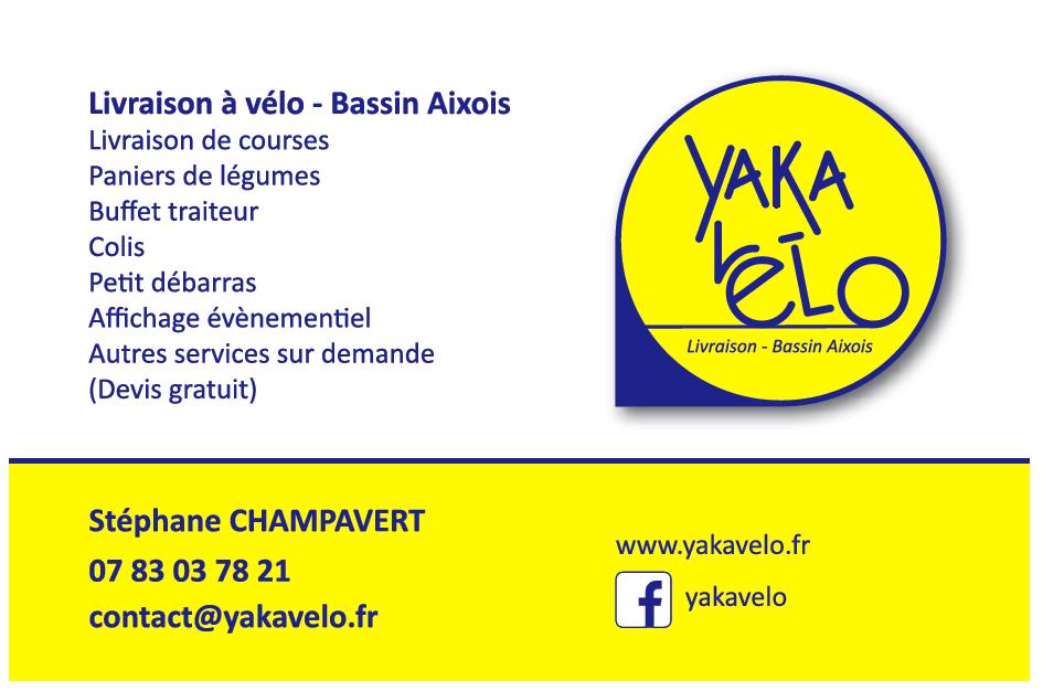 Carte visite verso yaka vélo